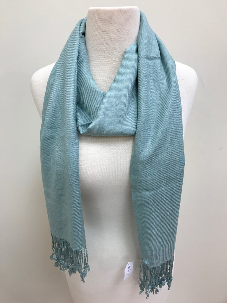 Pashmina Scarf Shawl - Cadet Blue - Accessories Boutique