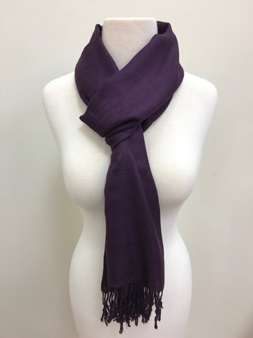 Pashmina Scarf - Taupe Medium Color Solid Scarf Shawl