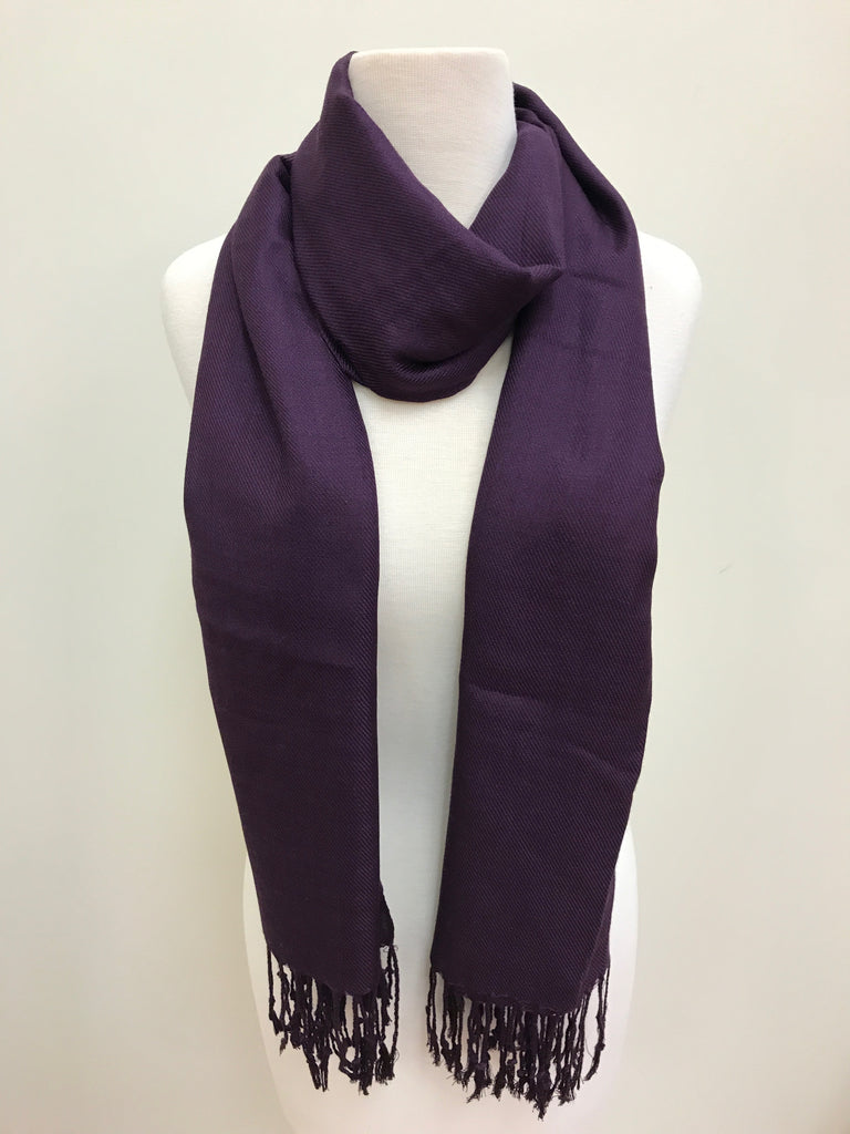 Pashmina Scarf Shawl - Purple Dark - Accessories Boutique