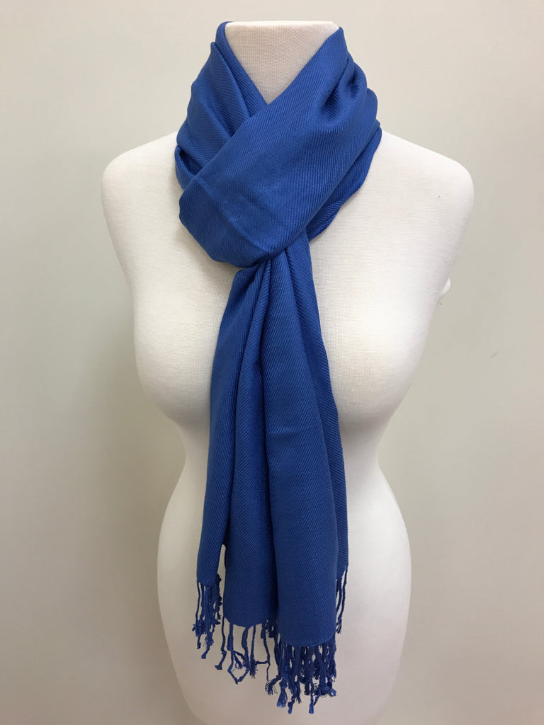 Pashmina Scarf Shawl - Blue Royal - Accessories Boutique