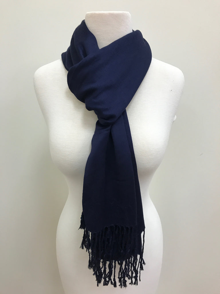 Pashmina Scarf Shawl - Navy Blue - Accessories Boutique