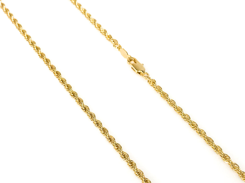 Gold Braided Rope Chain