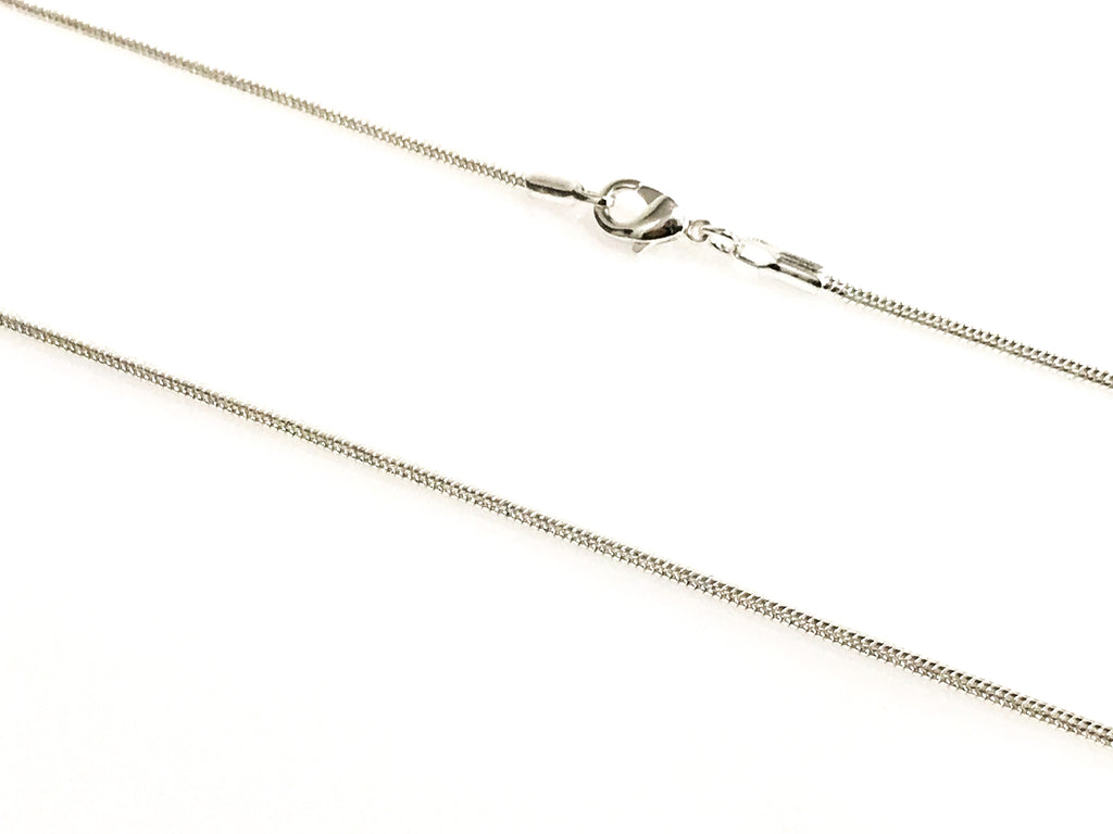 Silver Flat Snake Chain Size 16,18,20,24,30
