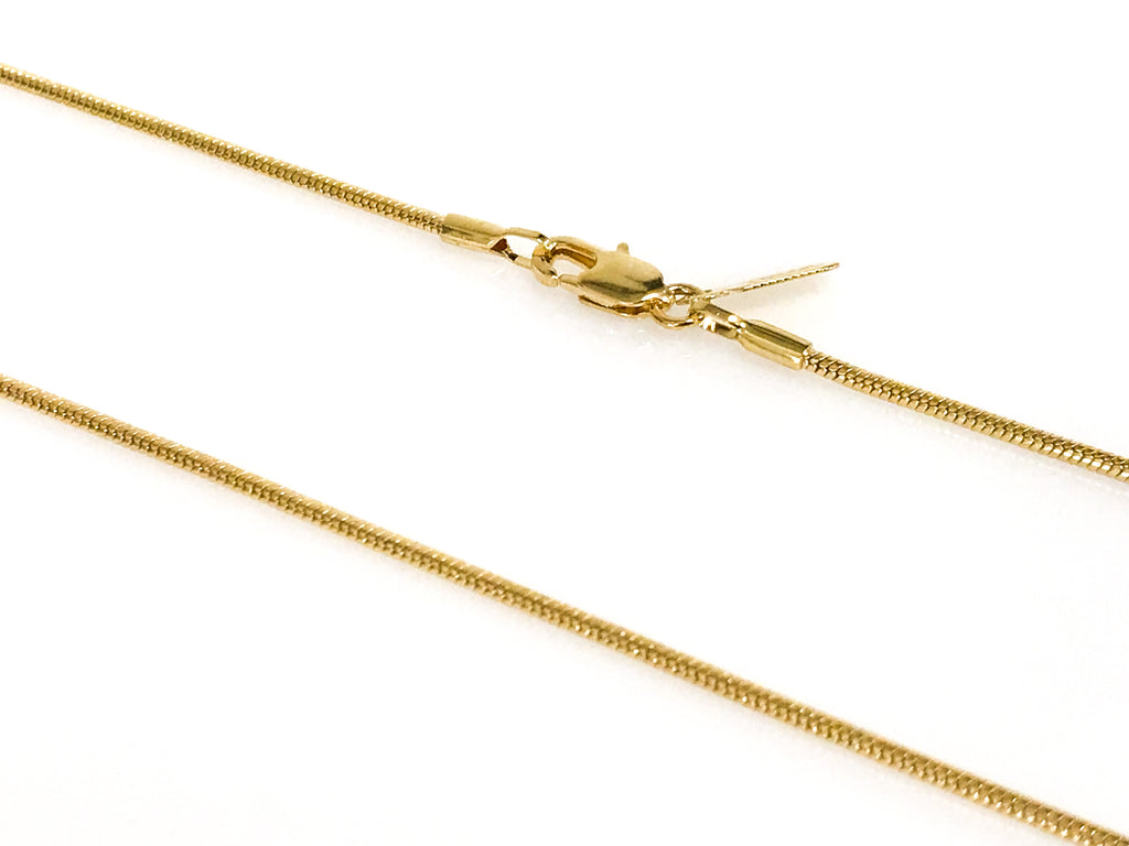 Gold Flat Snake Chain Size 16,18,20,24,30 - Accessories Boutique