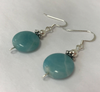 Handmade - Earring Amazonite Gemstone Silver - Accessories Boutique