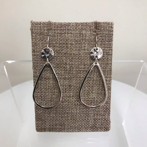 Hush Earrings Silver Gold Teardrop Fishhook GE3304MGS
