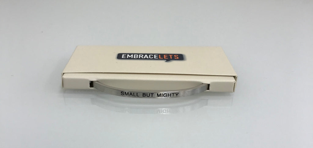 "Embracelets - ""Small But Mighty"" Silver Stainless Steel, Stackable, Layered Bracelet - Accessories Boutique"