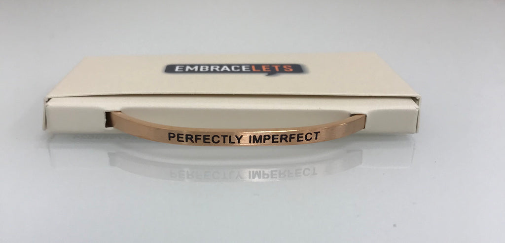 "Embracelets - ""Perfectly Imperfect"" Rose Gold Stainless Steel, Stackable, Layered Bracelet - Accessories Boutique"