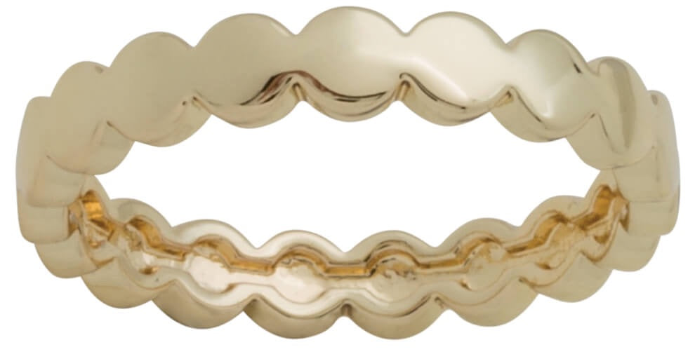 DaVinci Layers Stackable Ring Gold Plated Scalloped Design Edge Ring Lay8