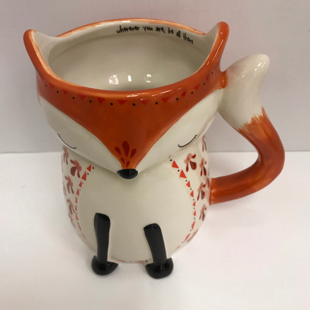 "Natural Life Mug - Fox ""Whoever you are, be all there"" MUG244"