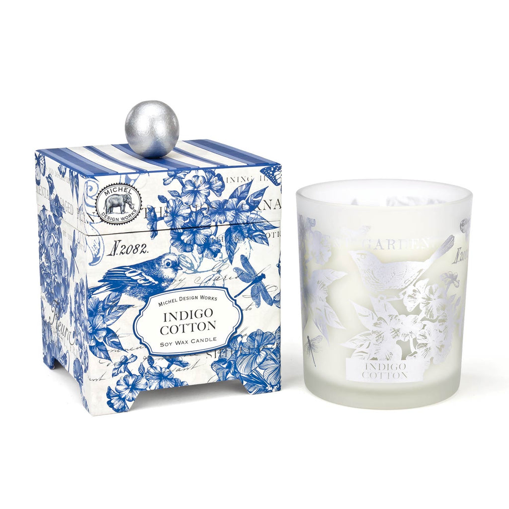 Michel Design Works Indigo Cotton Soy Wax Candle