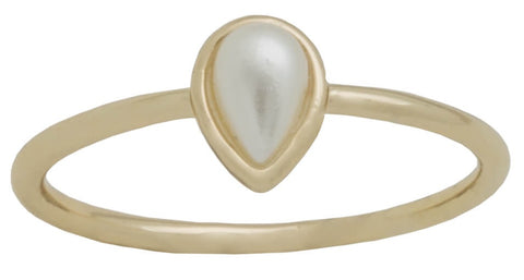 Davinci Ring - Layers Stackable Gold Round Pearl Ring #1
