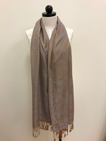Pashmina Scarf - Blue Denim Solid  Colored Scarf Shawl