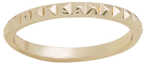 Ring - Layers Stackable #17 Gold Triangle Jewel Ring