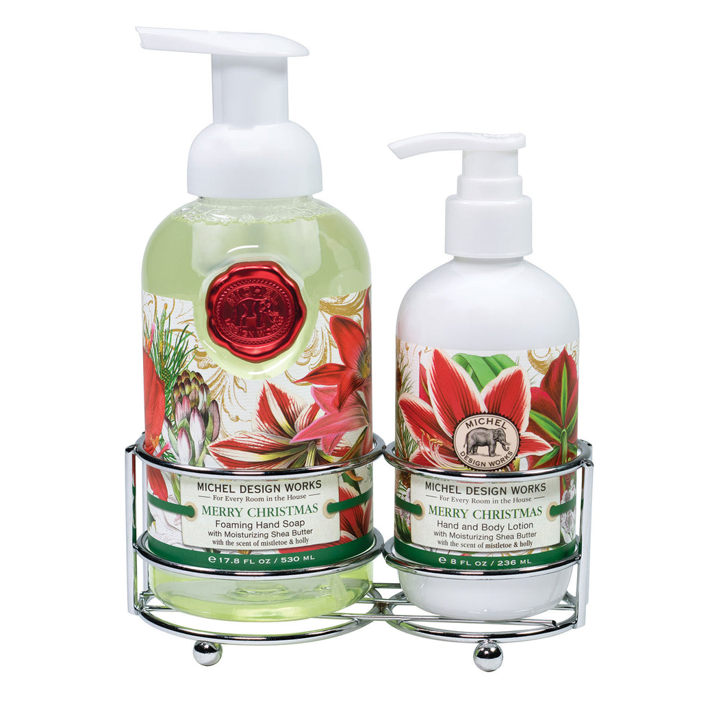 Michel Design Works Merry Christmas Soap Lotion Caddy Set