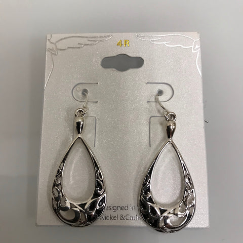 Its Sense Earrings Silver Abalone Tear Drop Dangle E6276RD-ABL