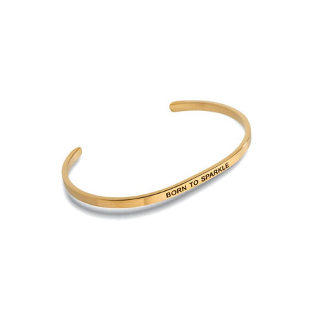 "Embracelets - ""Happiness is Being a Grandma"" Gold Stackable Layered Bracelet"
