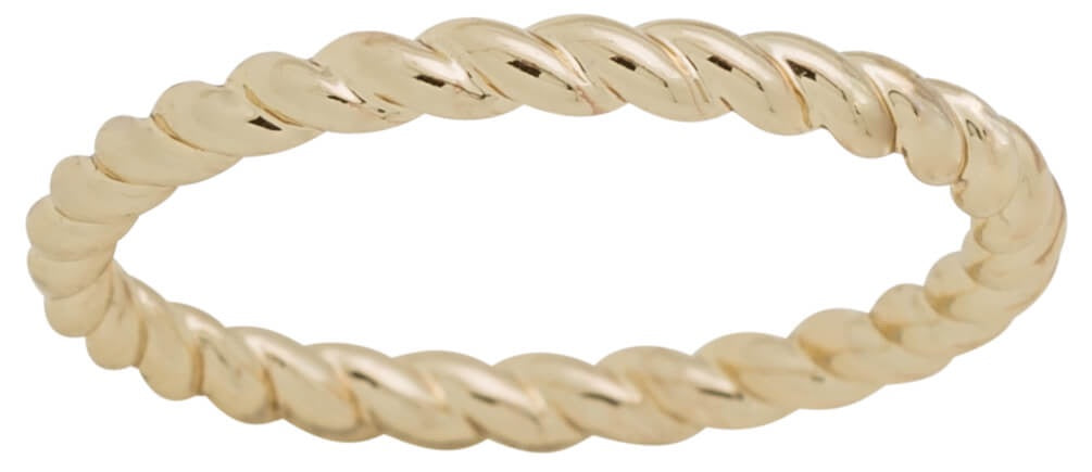 Davinci Layered Stackable Gold Rope Design Ring Lay16