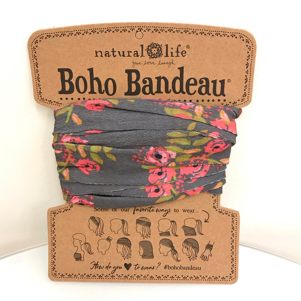 Natural Life Boho Bandeau - Charcoal Bloom BBW076