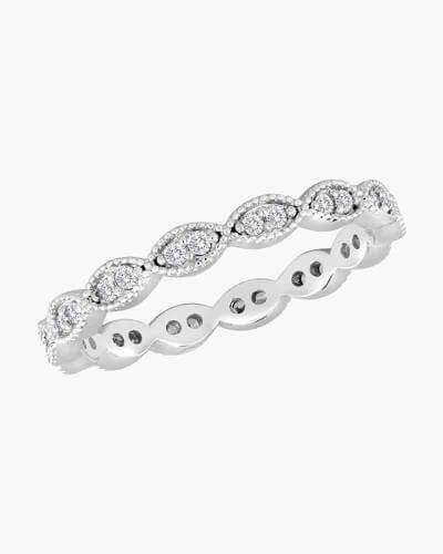 DaVinci Ring - Stackable Silver Oval Crystal Ring STK22-4