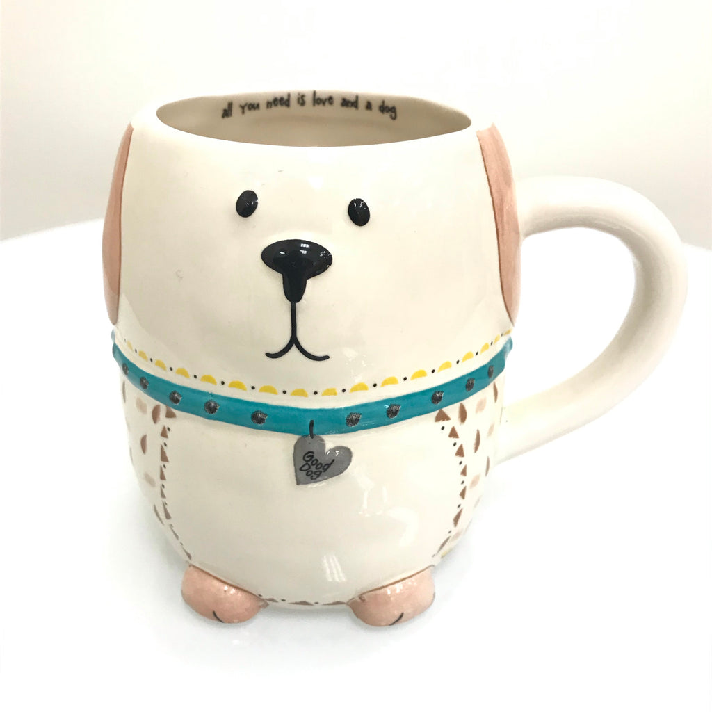 "Natural Life Mug - Dog ""All You Need is Love and a Dog"" MUG242"