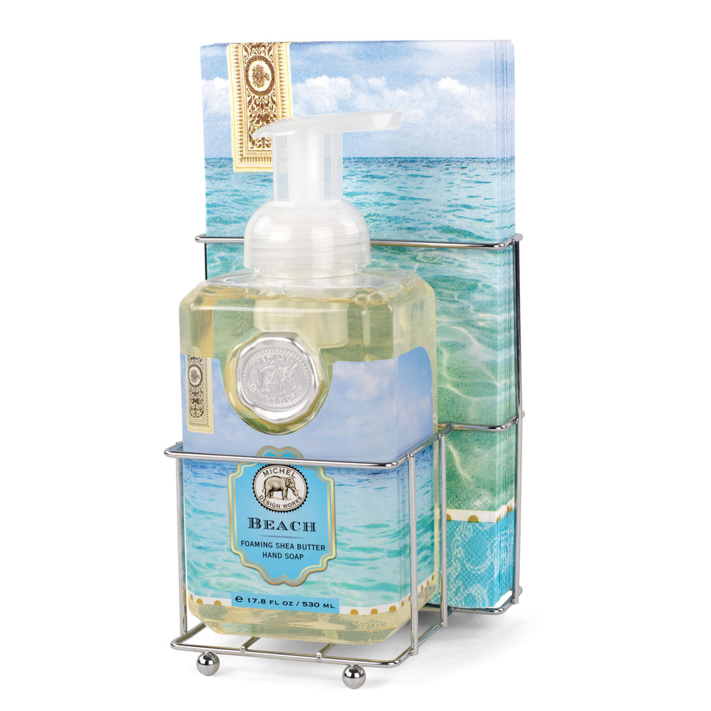 Michel Design Works Beach Foam Soap Napkin Caddy Set