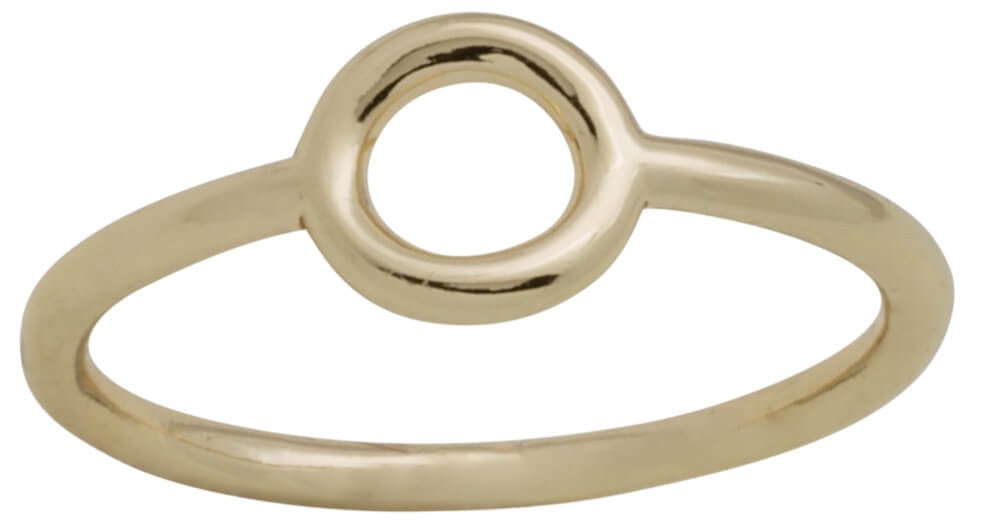 Davinci Layers Stackable Gold Open Circle Ring Lay11