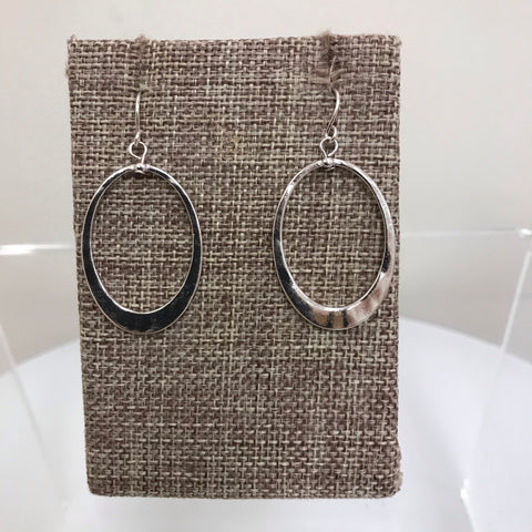 Earrings Silver Triangle Hoop Fishhook E8243