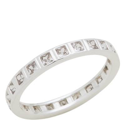 Davinci Stackable Rings - Clear Square Crystals Sizes 6-9 - Accessories Boutique