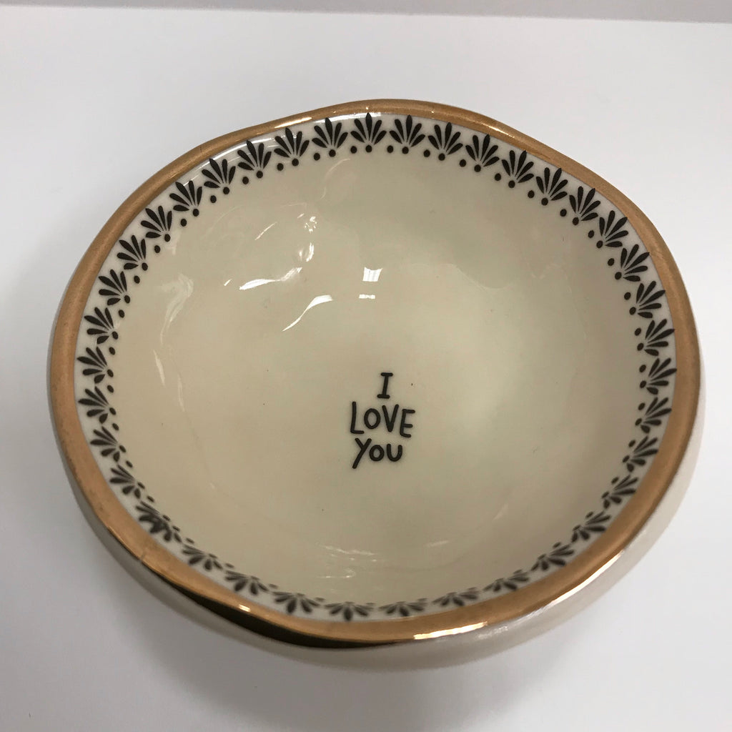 "Natural Life Ceramic Dish ""I Love You"""
