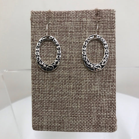 Its Sense Earrings Silver Sparkle Open Teardrop Post ME4391RD