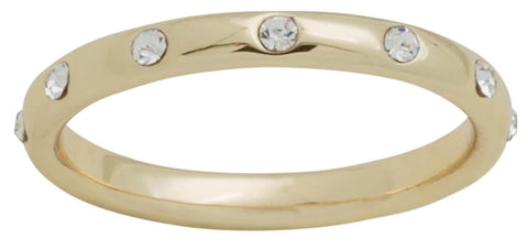 DaVinci Ring - Layers Stackable Gold Diamond Bar Ring Lay33