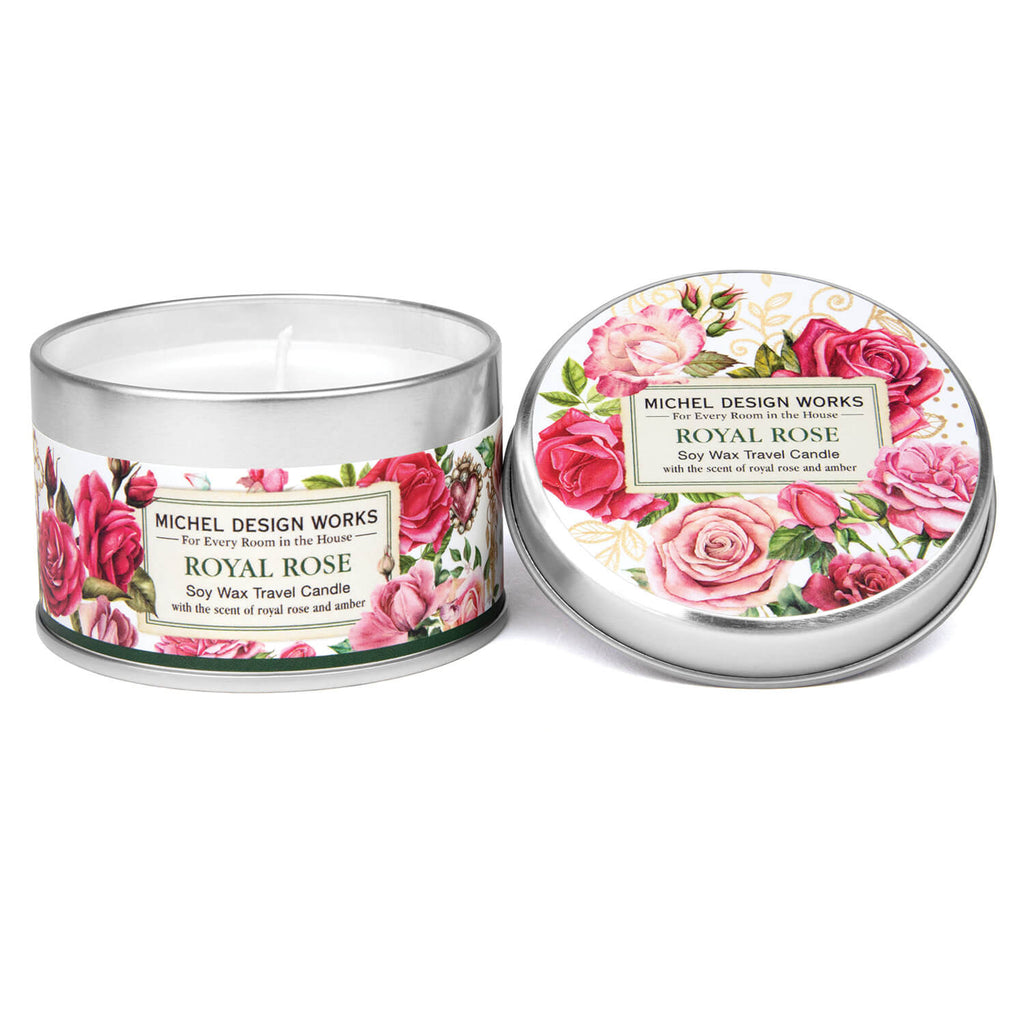 Michel Design Works Royal Rose Travel Candle