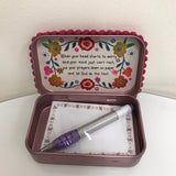 "Natural Life Prayer Box - ""With God All Things Are Possible PBX 092"
