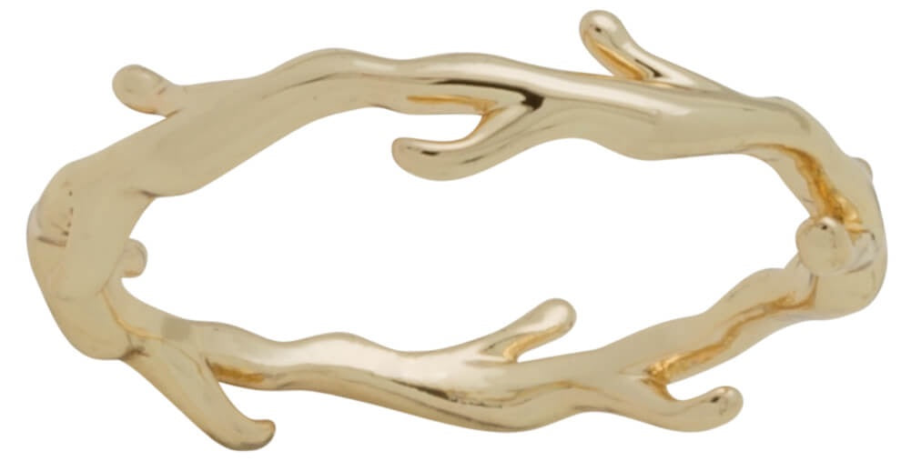 Ring - Layers Stackable #5 Gold Branch Ring