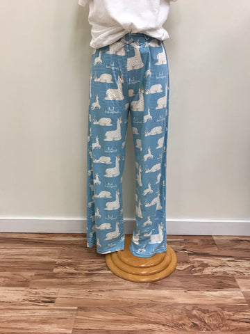 Amanda Blu Pajama Pants with Pink White & Blue Ornament Pants