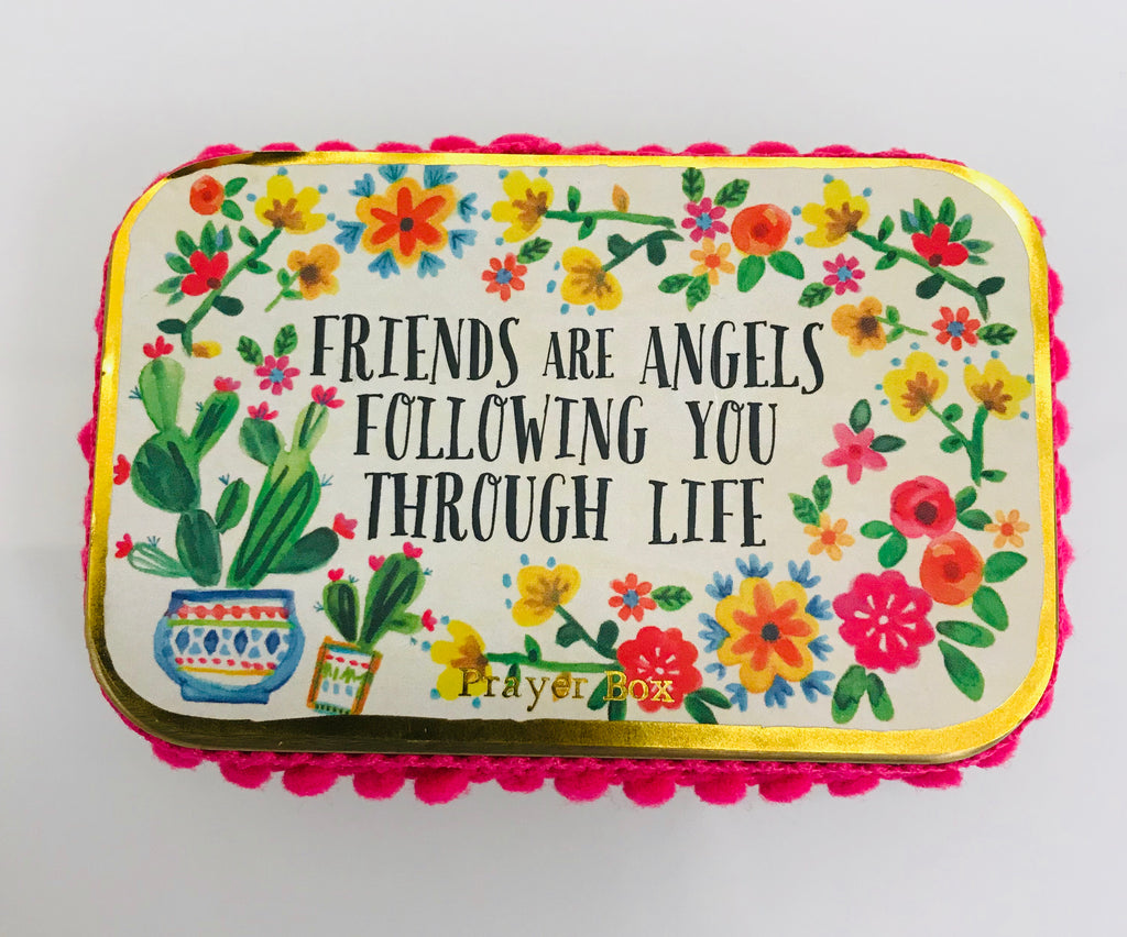 "Natural Life Prayer Box - ""Friends Are Angels Following You Through Life"" - Accessories Boutique"