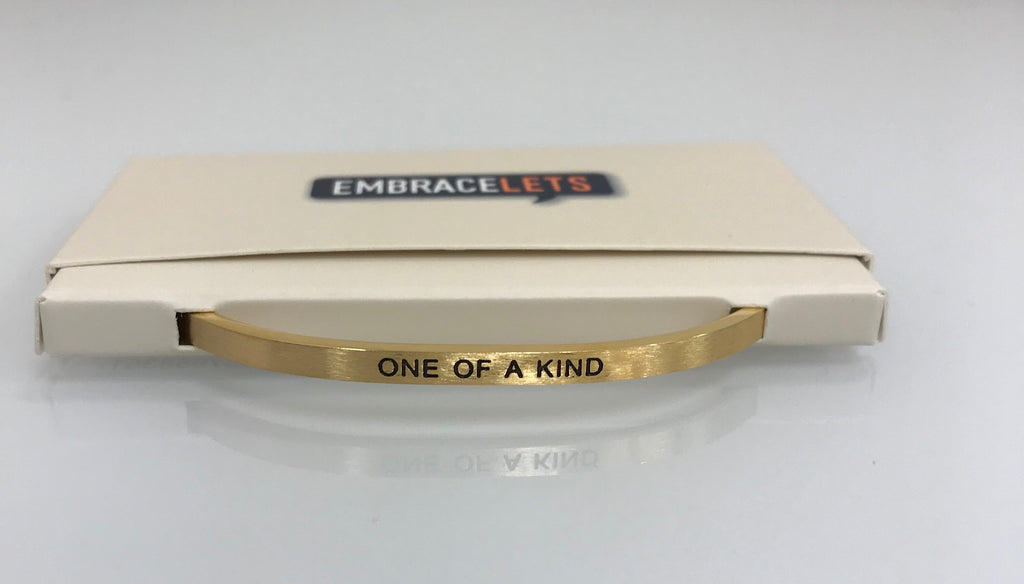 "Embracelets - ""One Of A Kind"" Gold Stainless Steel, Stackable, Layered Bracelet - Accessories Boutique"