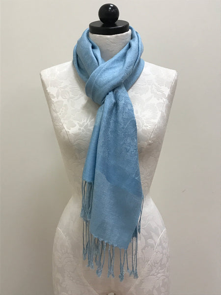 Pashmina - Blue Medium Pattern