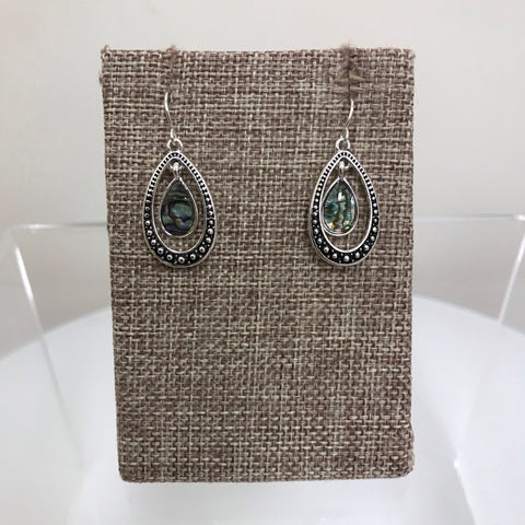 Its Sense Earrings Silver Post Tribal Print Pattern ME4515WS-M6