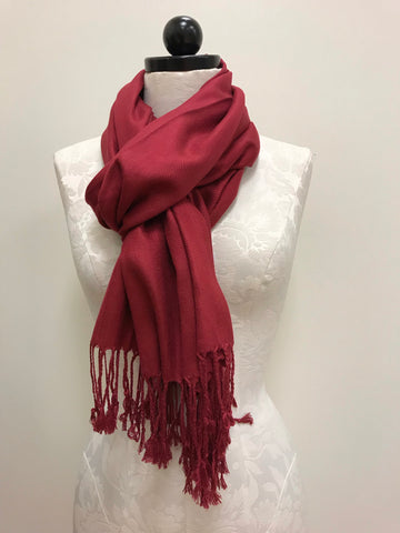 Pashmina Scarf - Cream with Pattern Scarf