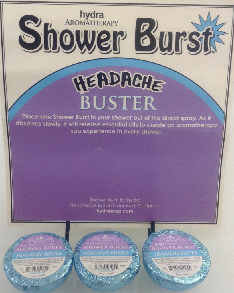 Hydra Aromatherapy - Headache Shower Burst - Accessories Boutique