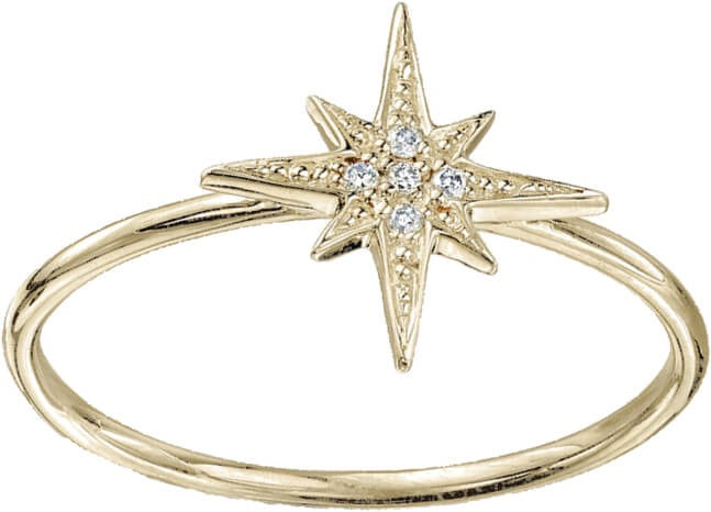 DaVinci Layers Stackable Gold Star Ring Lay21