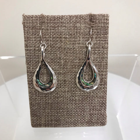 Its Sense Earrings Silver Filigree Tear Drop E6670 MS