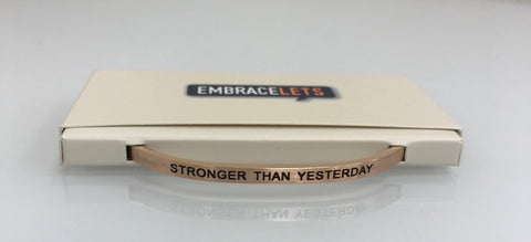 "Embracelets - ""Not Perfect Just Forgiven"" Silver Stainless Stackable Layered Bracelet"
