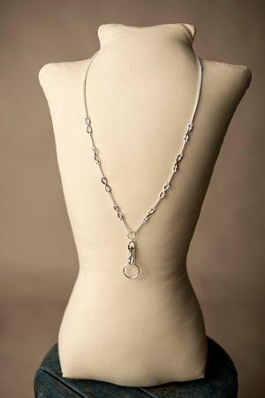 Hannah Infinity Lanyard Necklace (Stainless Steel)