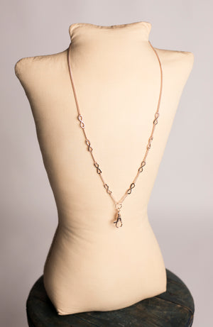 Hannah Infinity Lanyard Necklace (Rose Gold)