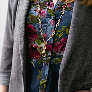 Hannah Infinity Lanyard Necklace (Gold)