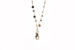 Kellie Hammered Disc Lanyard Necklace