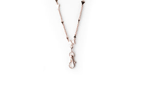 Michelle Women's Fashion Lanyard Triangle Necklace with Swivel Clasp (rose gold)